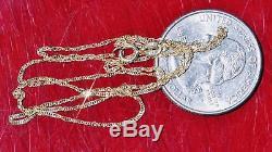 Alishaev 10k yellow gold necklace 16.0 Singapore link chain vintage 0.62gr