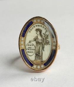 An Unusual Georgian Mourning Ring Circa 1790s