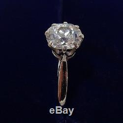 Antique 1.15ct Diamond Solitaire Engagement Ring In 18ct White Gold Size P
