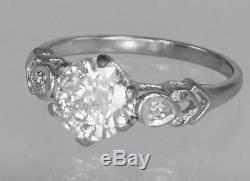 Antique 1.5ct Old Brilliant Cut Solitaire Diamond 18ct Gold 1920's Vintage Ring