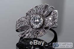 Antique 14 kt White Gold Diamond Ring