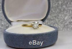Antique 14K Gold Diamond Solitaire Engagement Ring. 75 Carat T. WT