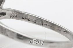 Antique 1920s $8000 2ct VS I Old Euro Diamond Emerald Platinum Filigree Ring