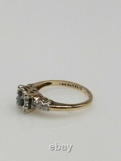 Antique 1940s $2400.50ct Natural Alexandrite Diamond 14k Yellow Gold Ring