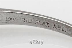 Antique 1940s. 75ct Genuine PINK Diamond Platinum Wedding Ring