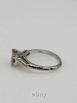 Antique 1950s $7000 1.50ct Natural Alexandrite Diamond Platinum Wedding Ring