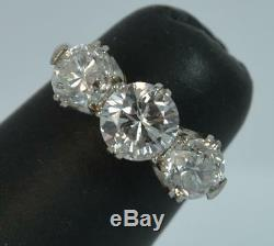 Antique 2.00 Carat Diamond 18ct Gold and Platinum Trilogy Engagement Ring