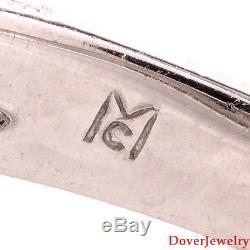 Antique 2.83ct Diamond Platinum Filigree Engagement Ring 7.5 Grams NR