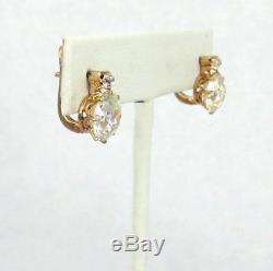 Antique 7.0ct European & Old Mine Cut Diamond 18K Gold Drop Earrings