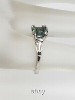 Antique $7000 1.25ct Natural AAA+++ Alexandrite Diamond Platinum Wedding Ring