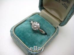 Antique Art Deco. 50 Carat Diamond Platinum Cluster Ring Sz 5