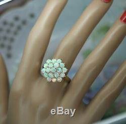 Antique Art Deco Jewellery Gold Ring With Opals Vintage Jewelry size 9