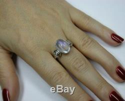 Antique Art Deco Platinum Diamond Blue Hue Moonstone Engagement Ring