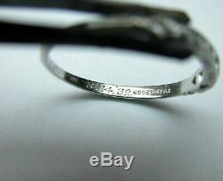 Antique Art Deco Platinum Diamond Wedding Band Stacking Ring Granat Dated 1932