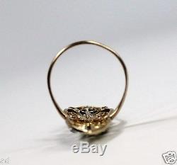 Antique Art Nouveau Edwardian Platinum & 14k Gold 0.89ctw Diamond Ring c1915