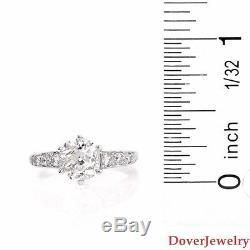 Antique Deco 2.54ct Diamond Platinum Engagement Ring 6.1 Grams NR