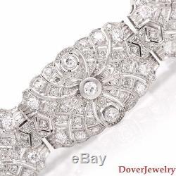 Antique Deco Old European 11.00ct Diamond Platinum Link Bracelet 50.5 Grams NR
