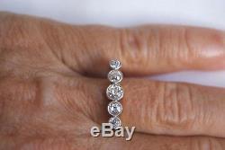 Antique Edwardian 18ct Gold & Plat 0.75ct Old Cut Five Stone Diamond Ring 3.1g