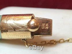 Antique Estate 14k Gold Green Jade Jadeite Bangle Bracelet 585 Chinese Gemstone