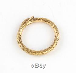 Antique Georgian 15Ct Gold Snake /Serpent Split Ring For Watch Chain / Fob