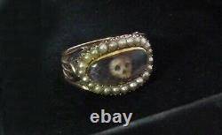 Antique Georgian Mourning Ring Memento Mori