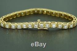 Antique Heavy Vintage 18K YG 5.00CTW Diamond Tennis Bracelet Estate video