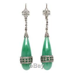 Antique Look 1.50ctw Rose Cut Diamond & Onyx Earrings