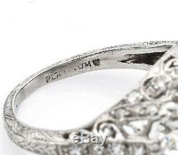 Antique Platinum 2.83 TCW Diamond Band Ring 4.6 Grams