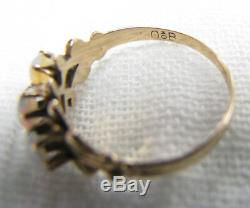 Antique Victorian 10K OB Ostby Barton 3 Stone Opal Ring Sz 4.75