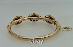 Antique Victorian 14K Gold Diamond Bracelet 81078