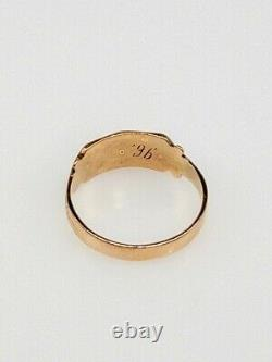 Antique Victorian 1880s Natural Turquoise Pearl 14k Yellow Gold Ring Band