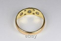 Antique Victorian 18ct Gold Diamond Gypsy Ring, (Birmingham, 1863)