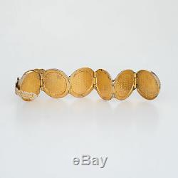 Antique Victorian Folding Picture Frame Orb Pendant Charm Vintage 14k Gold Fob