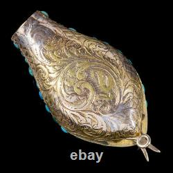 Antique Victorian Turquoise Snake Head Snapper Ruby Eyes 18ct Gold Circa 1900