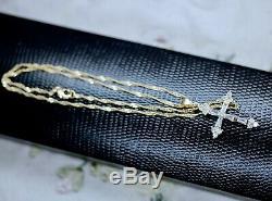 Antique Vintage Jewellery Twist Chain Necklace White Sapphires Pendant Jewelry