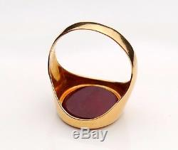 Antique Vintage Men Signet Ring solid 18K Gold Carnelian US 9.25 / 5.2 gr