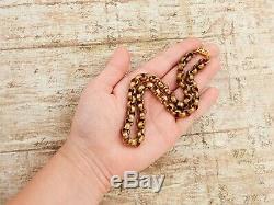 Antique Vintage Nouveau 14k Yellow Gold Filled GF Rolo Link HEAVY Chain Necklace