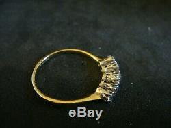 Art Deco 0.50ct Five Stone Old Cut Diamond 18ct & Platinum Ring Size Q