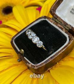 Art Deco Old Cut Diamond Five Stone Ring 1.60ct Platinum