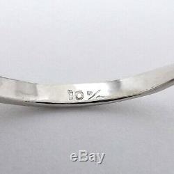 Art Deco Platinum Diamond Staircase Engagement Cocktail Ring Sz 7.25