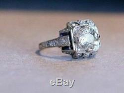 Art Deco Vintage Edwardian 2.05 Ct Diamond Engagement Ring In14k White Gold Over