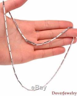Cartier 18K White Gold Chain Necklace Bracelet Set 46.2 Grams NR