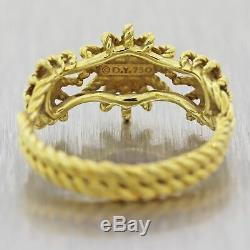David Yurman 18k Yellow Gold Diamond Starburst Three-Station Ring