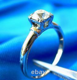 Deco Old European Cut Diamond Platinum Engagement Ring Antique Vintage Solitaire