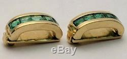 Designer Kurt Guttmann Vintage Emerald and 18K Yellow Gold Necklace Enhancers
