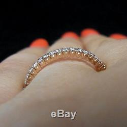 Diamonds & 14k ROSE Gold Eternity Wedding Band Estate Vintage Ring Engagement