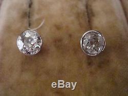 EDWARDIAN 18CT OLD BRILLIANT CUT DIAMOND EARRINGS 1.50ct