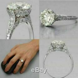 Edwardian Vintage 2.00 Ct Diamond Antique Engagement Wedding Ring 14k White Gold