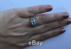 Estate Art Deco Platinum 2.28 CTW Old European Diamond Engagement Ring