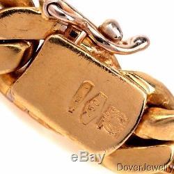 Estate Diamond 16.14ct Rubellite 18K Yellow Gold Pendant Necklace 84.0 Grams NR